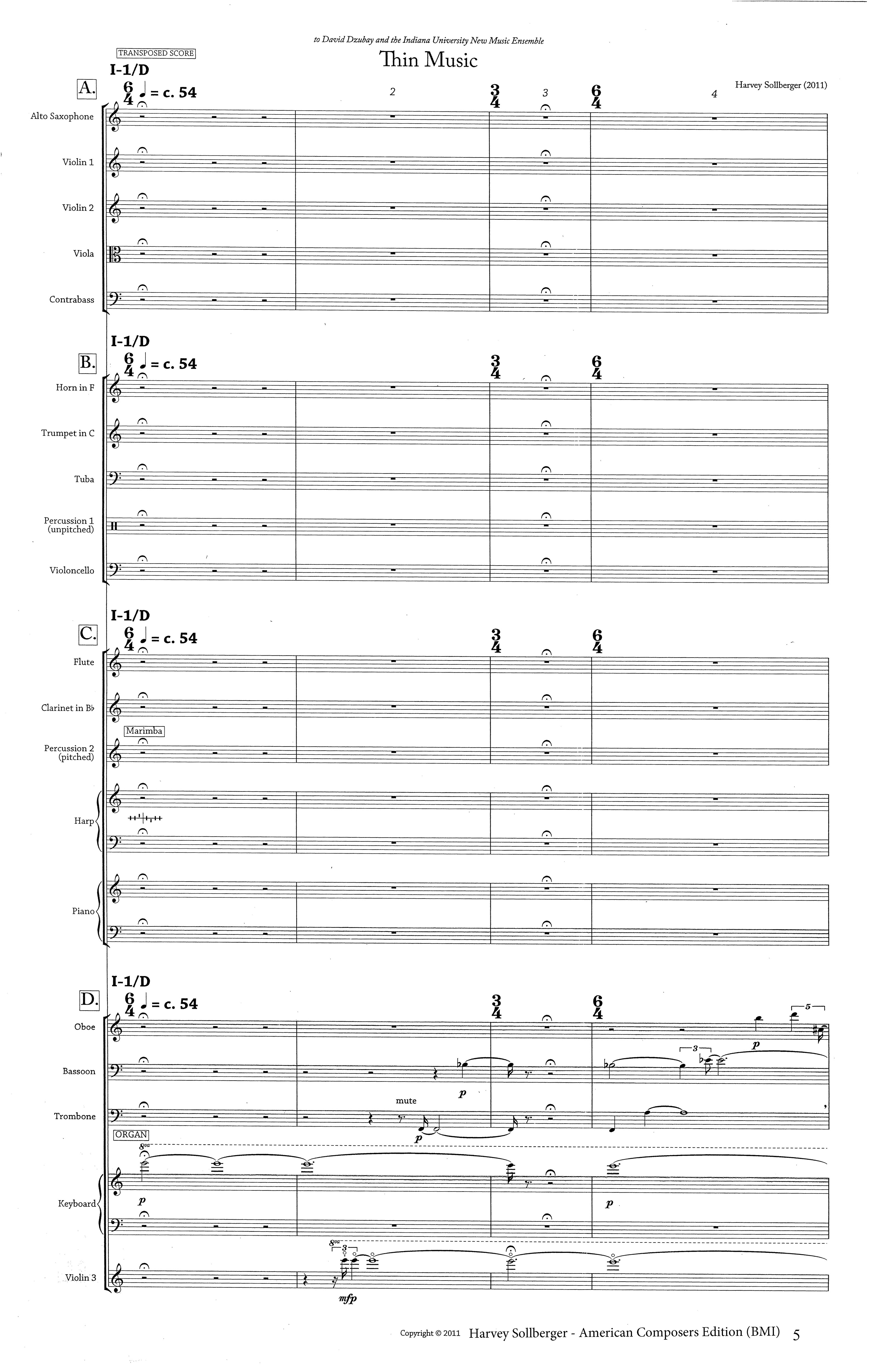 Sollberger - Thin Music-Thick Music page 1