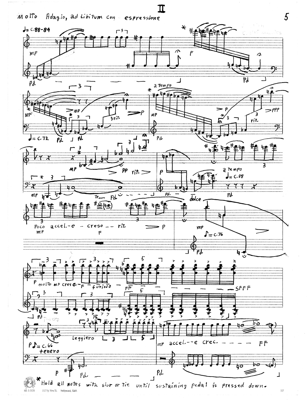 Tillis_Three Movments for Piano II