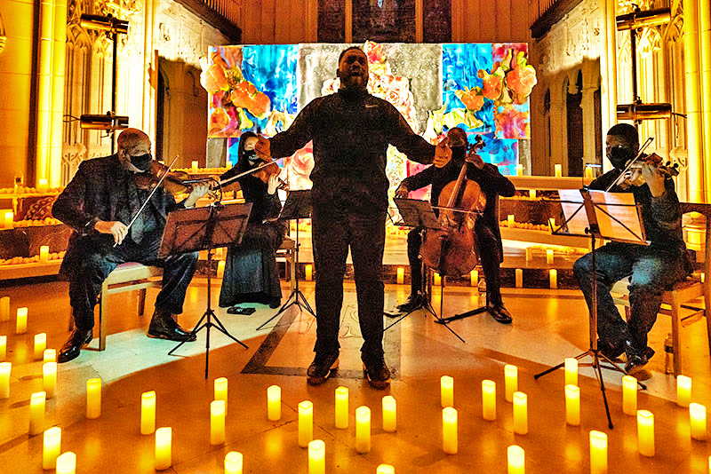 Kenneth Overton performing with members of the Harlem Chamber Players October 2020
