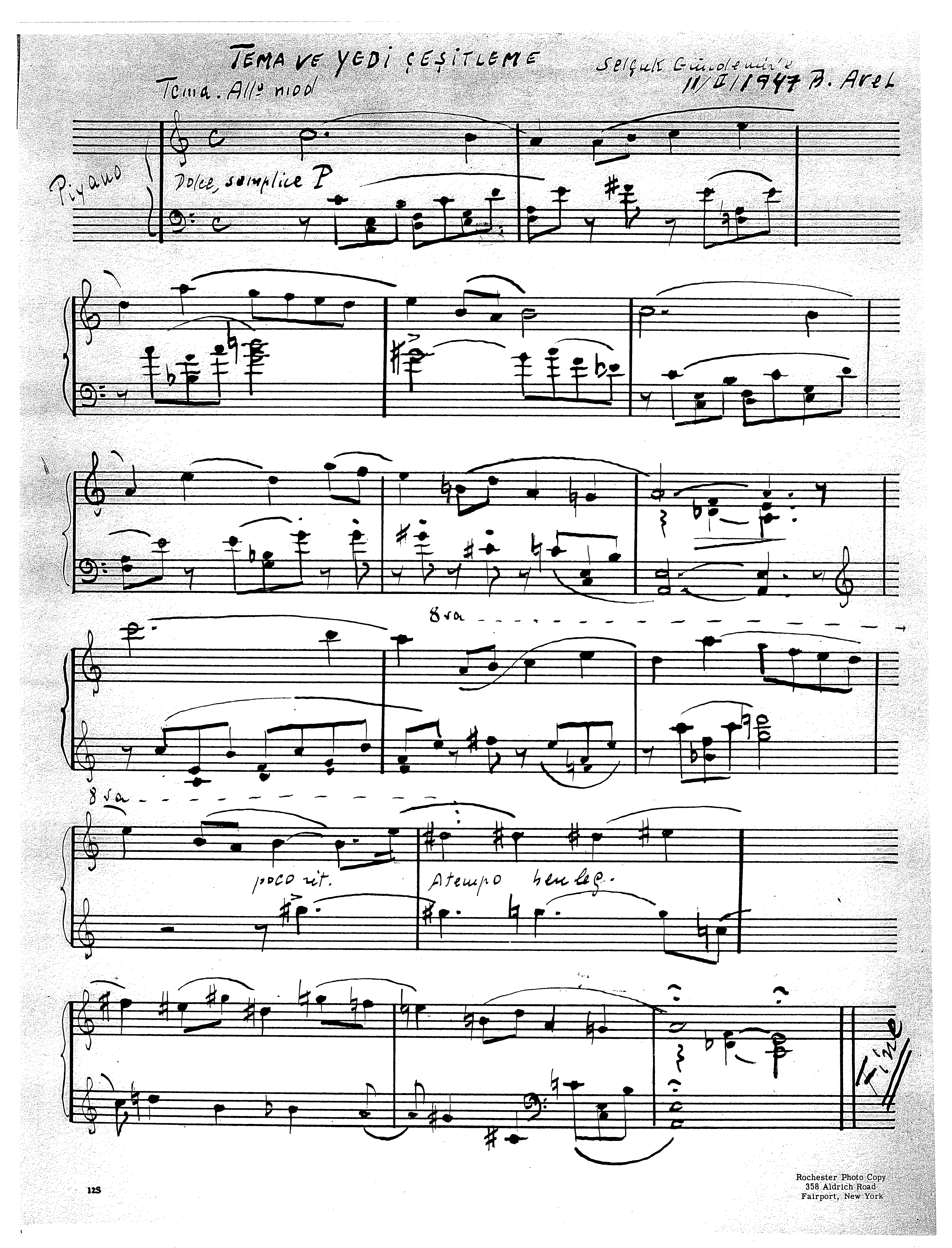 Theme and Seven Variations