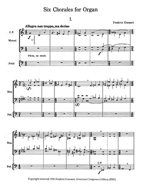 Goossen Six Chorales for Organ